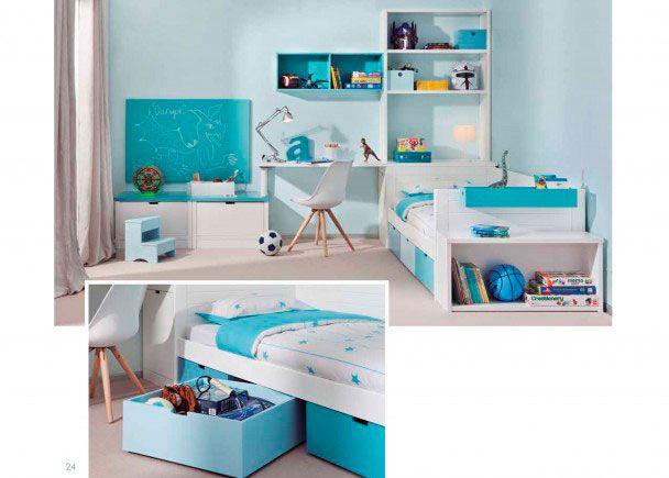 Habitaci n infantil con cama nido 3 cajones jugueteros - Habitacion infantil cama nido ...