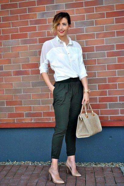 Black & white office wear