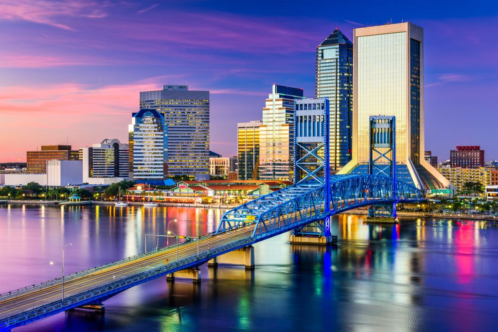 Jacksonville florida downtown jigsaw puzzle in bridges