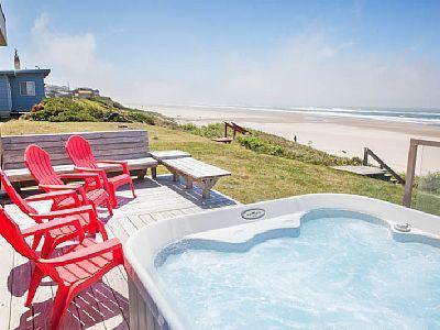 Vrbo Com 749545 Beach Club Ocean Front Roads End Hm Ocean Vw Hot Tub Amp Private Beach Access Hot Tub Tub Vacation Rental