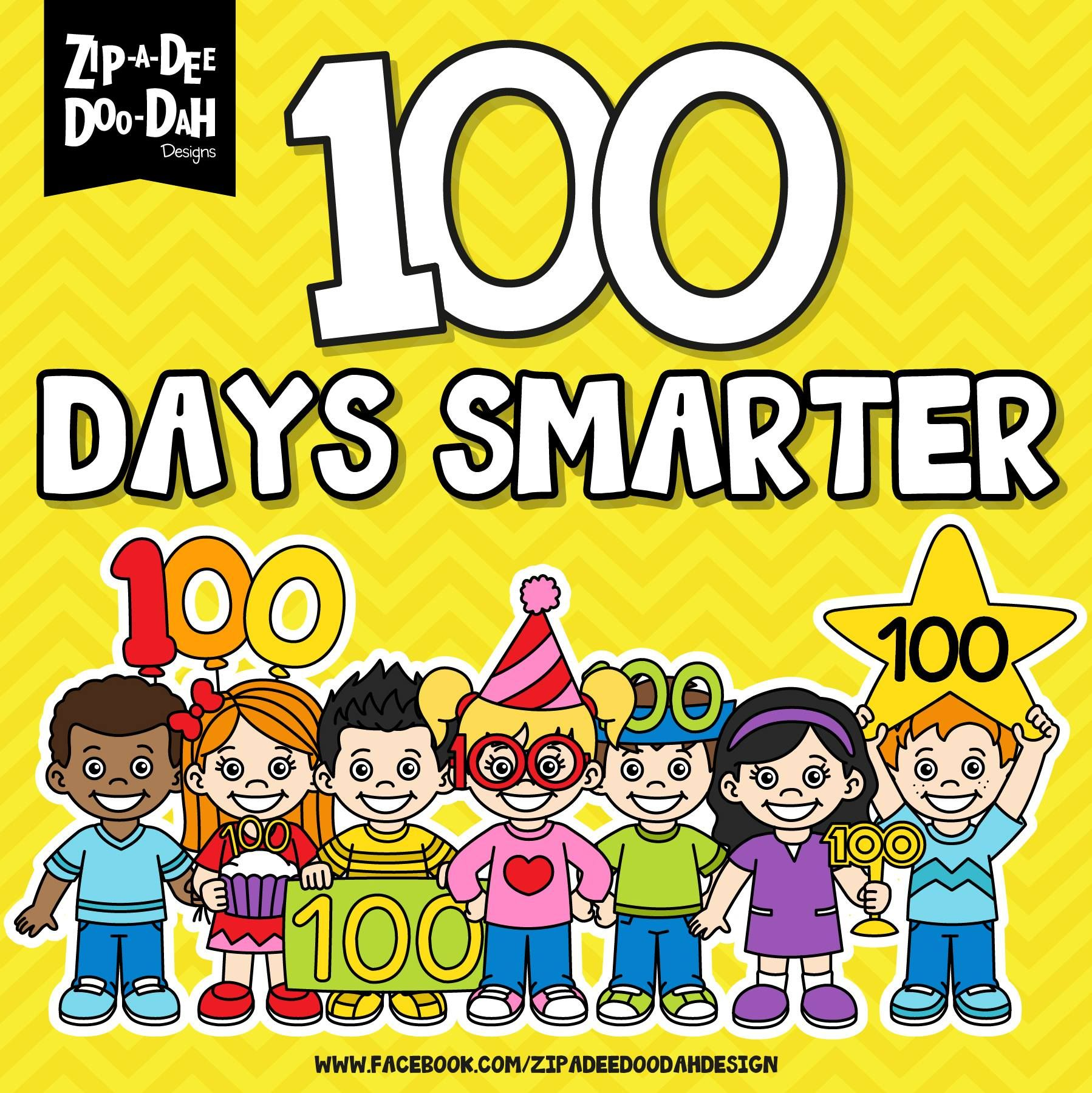 100 Days of School means a 100 Days Smarter! | Inspirational