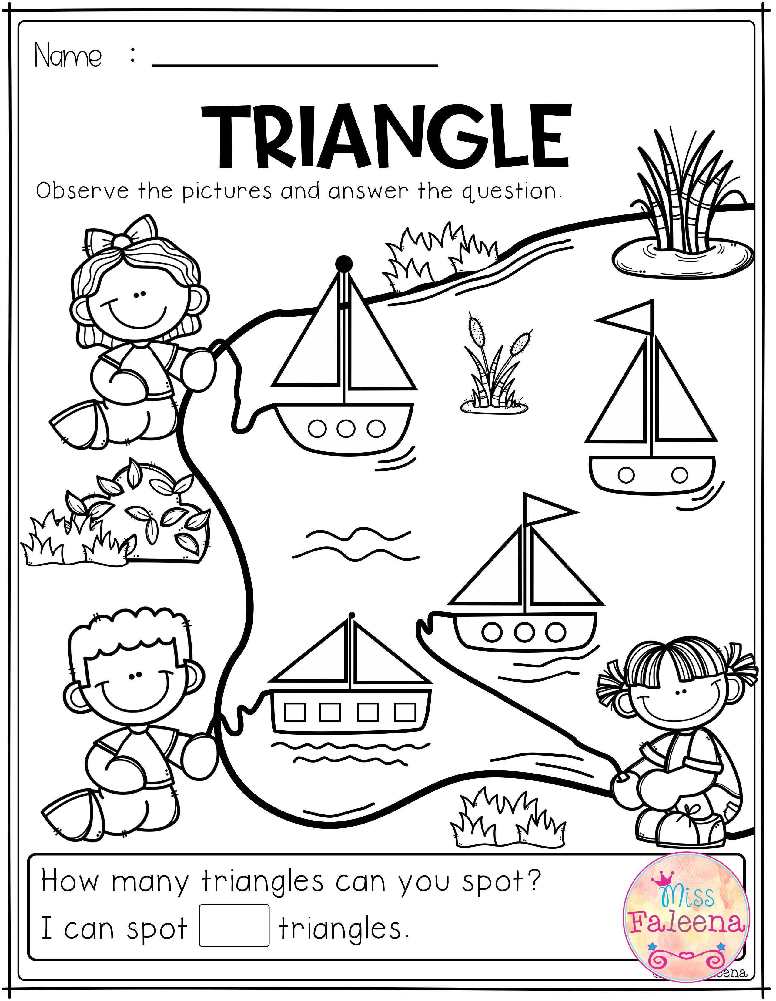 Free Kindergarten Math Has 7 Pages Of Math Practice Worksheets These Pages Are Great For Kindergarten And First Grade Students These Pages Can Be Used For Mor