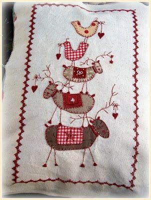 reindeer stitchery.