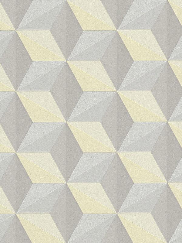 Papier Peint Cube Jaune - Life 3 - As Creation - Clicjedecore