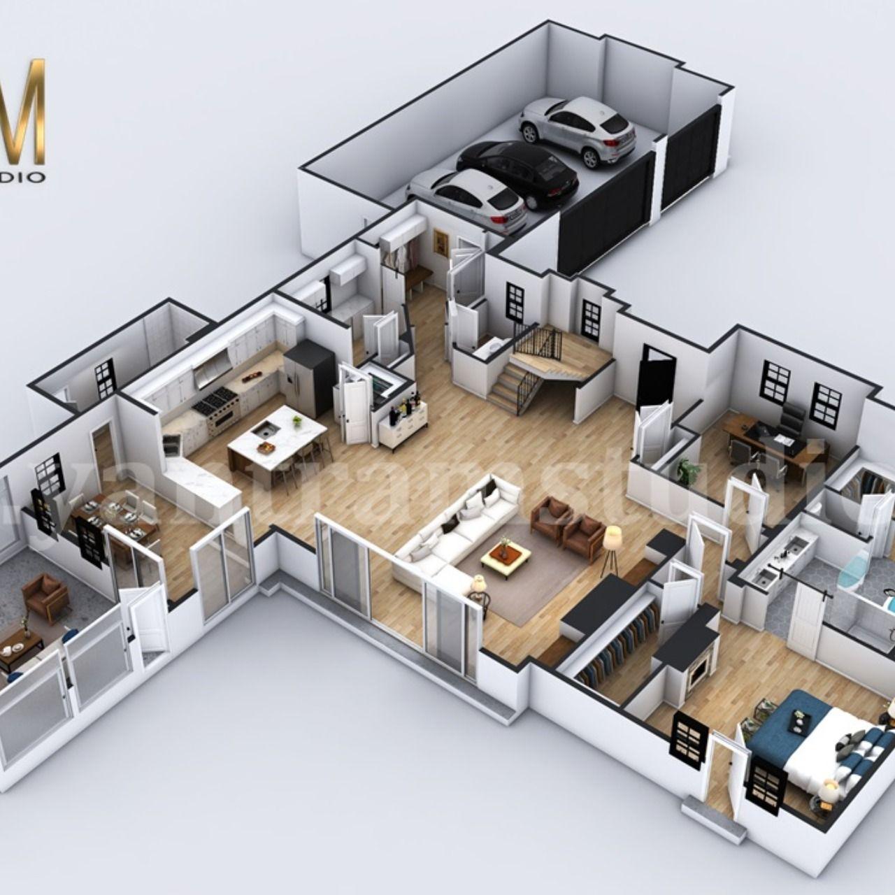 Pin On 3d Floor Plan