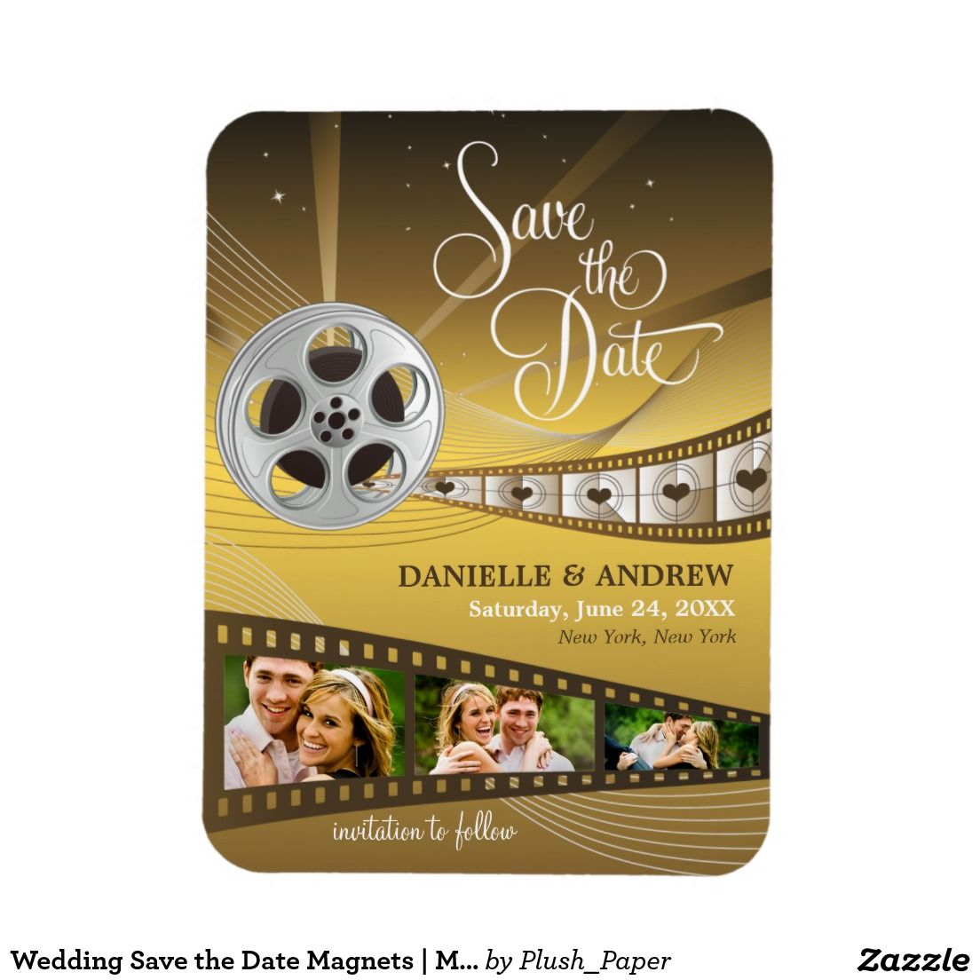 Wedding Save the Date Magnets | Movie Reel | WEDDING: SAVE THE DATE ...