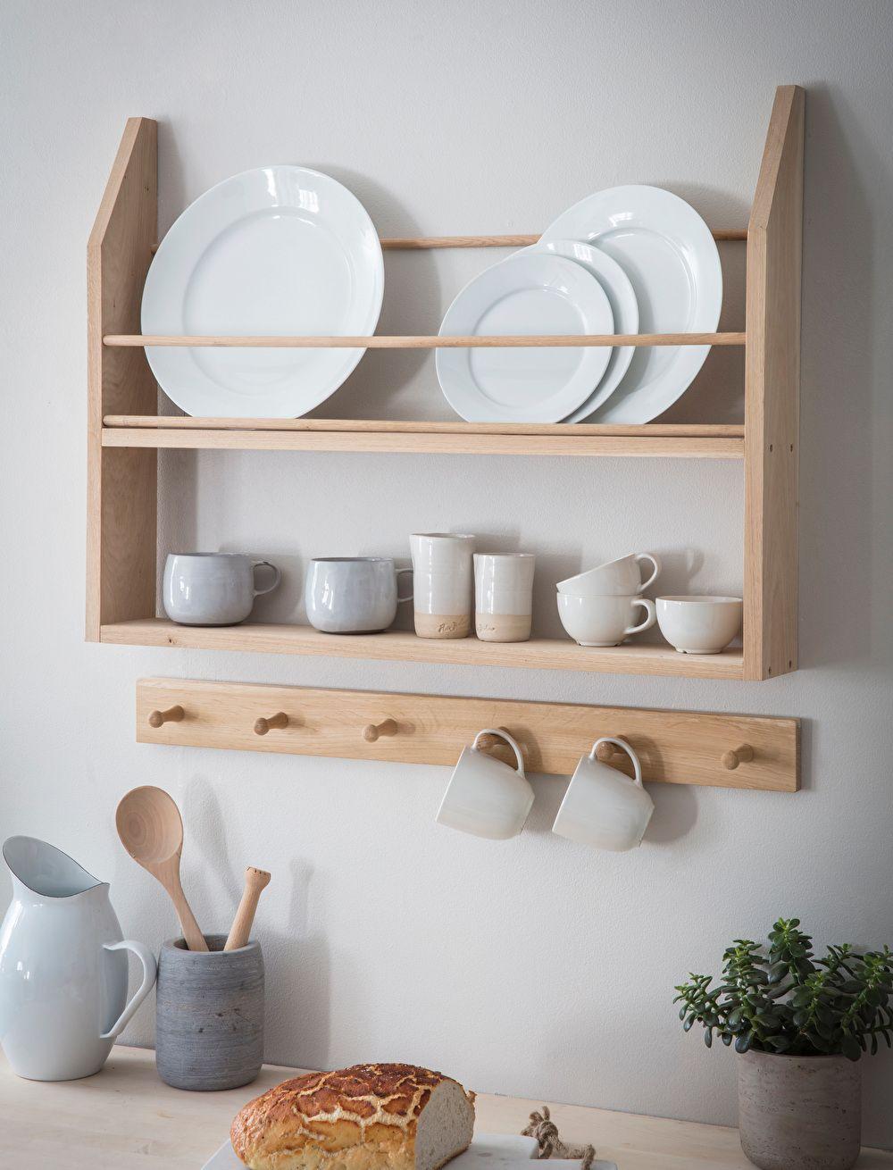 Hambledon Plate Shelf Plate Shelves Wall Mounted Kitchen Storage Shelves