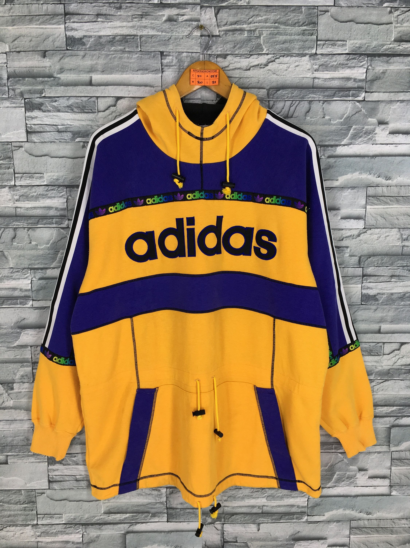ADIDAS Trefoil Sweatshirt Hoodie Large Vintage 80s Adidas
