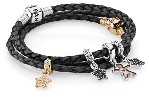 Mens Pandora Leather Bracelet