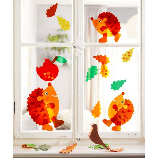 Sachenmacher Fensterbilder Igel JAKO-O, Bastelset für 12 Teile » JAKO-O