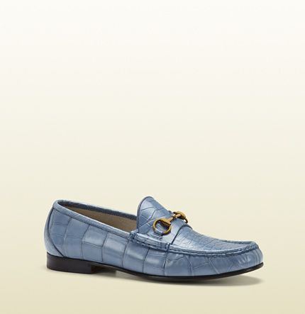 3e397c5bd35 Gucci 1953 horsebit loafer in crocodile