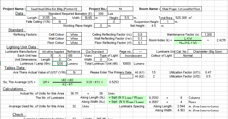 Download Free MEP Calculation Excel Sheets, AutoCAD Drawings