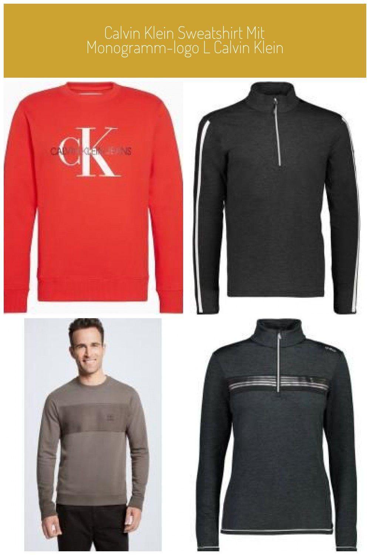 Calvin Klein Sweatshirt Mit Monogramm Logo L Calvin Klein In 2020 Calvin Klein Sweatshirt Damen Sweatshirts Garderobe Modern
