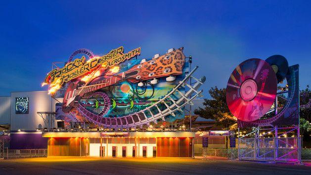 Rock N Roller Coaster Attraction Pin Disneyland Resort Paris