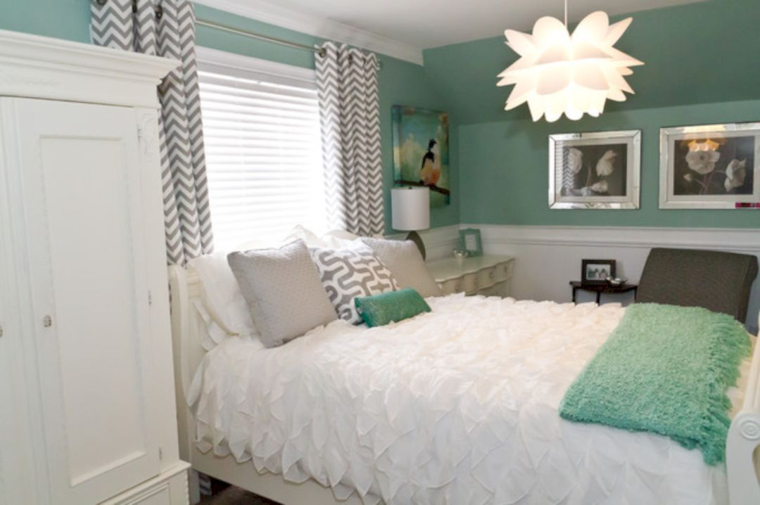 Marvelous 50 Gorgeous And Lovely Mint Green Bedroom Ideas For Girls  Https://freshoom
