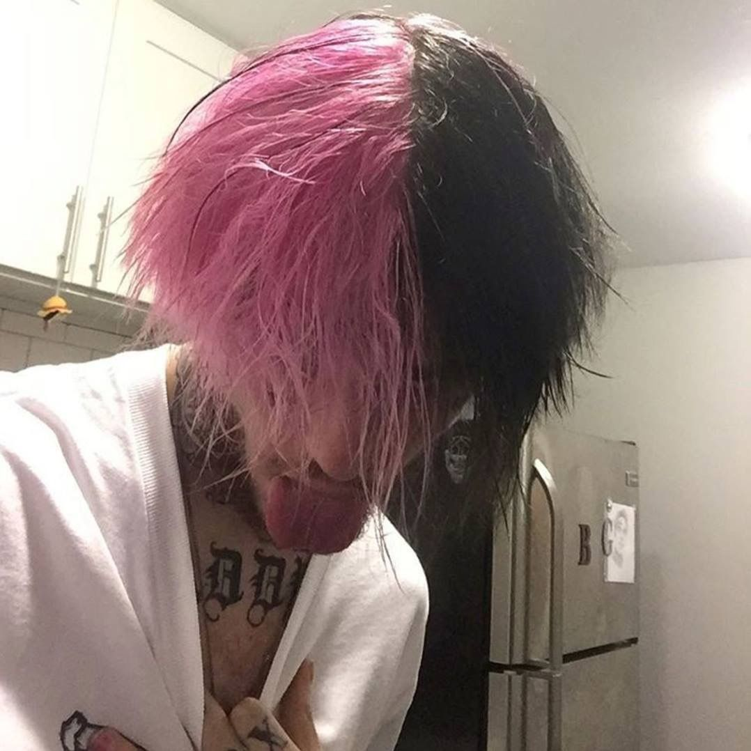 Pin By Mark Kovacic On Lil Peep Boy Hairstyles Dyed Hair Hair Styles