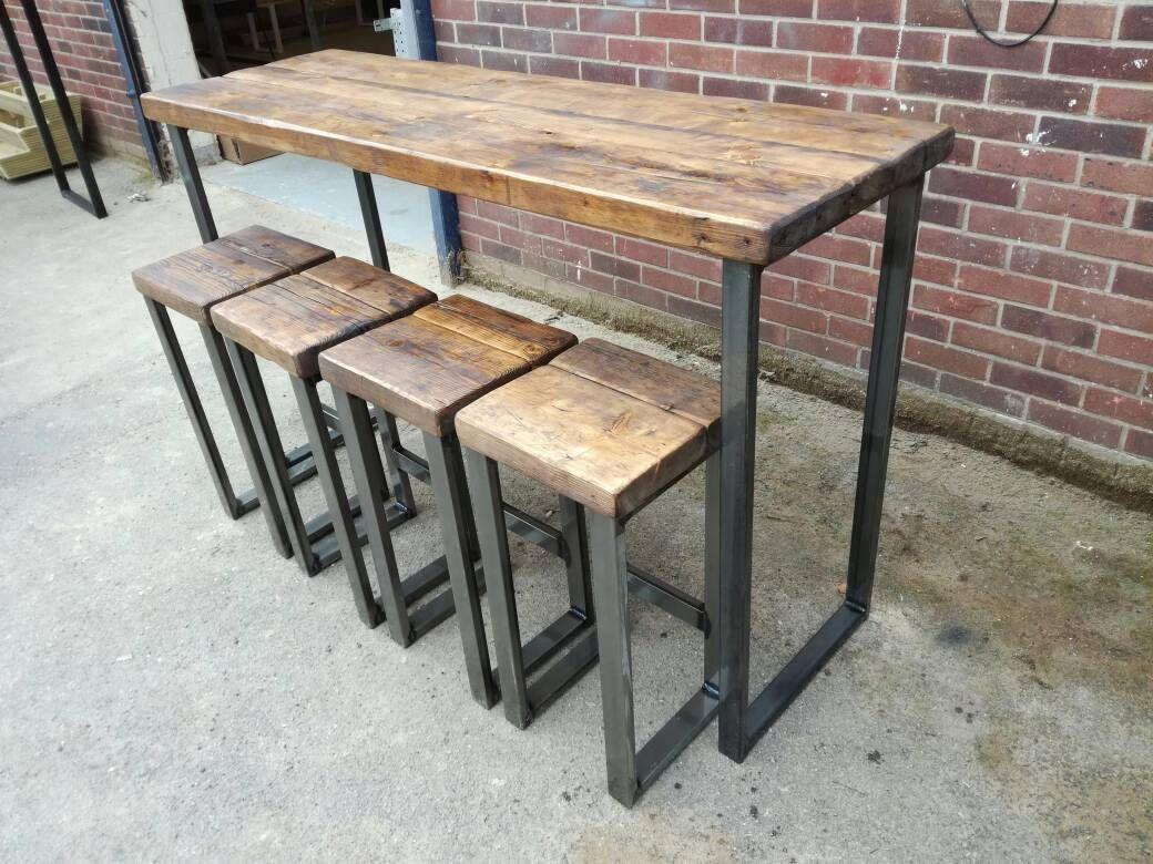 Industrial Style High Bar Table High Bar Table Bar Table Pub Table
