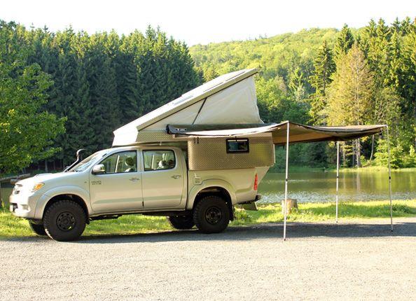 pick up camper buschbox pickup truck camping camper 4x4. Black Bedroom Furniture Sets. Home Design Ideas