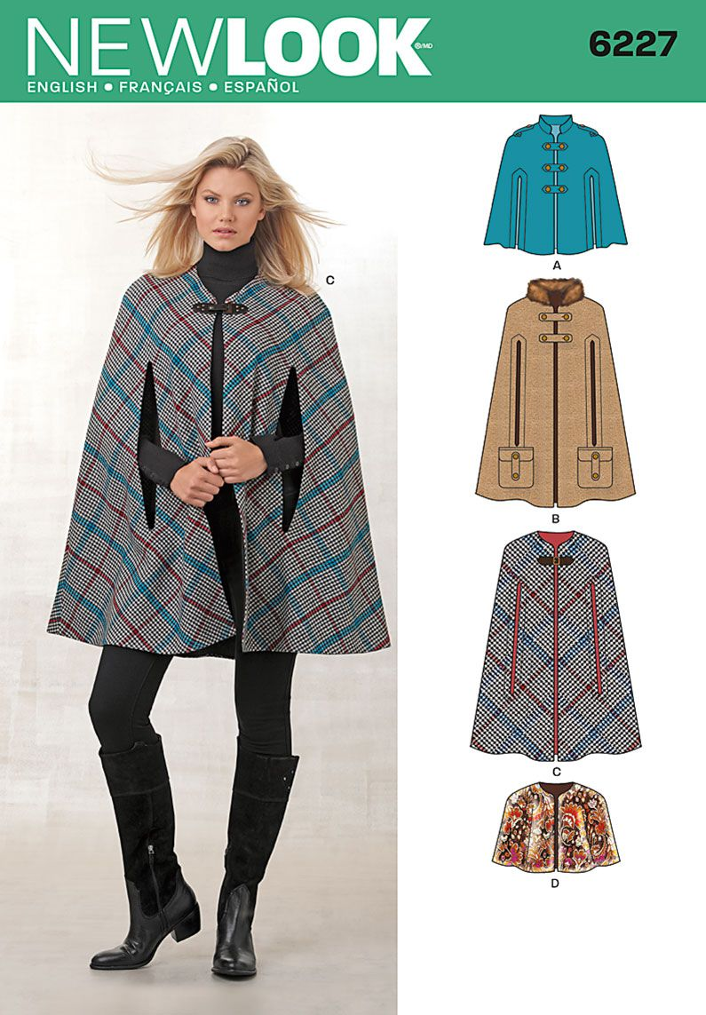 DIY Misses\' cape or capelet with New Look Sewing Pattern 6227 ...