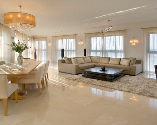 Good Marble Flooring For Modern Living Room With Sectionals Sleeper Sofa With  Coffee Table And White ShagMarble Flooring For Modern Living Room With  Sectionals ...