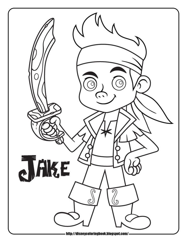 Free Printable Jake And The Neverland Pirates Coloring Pages