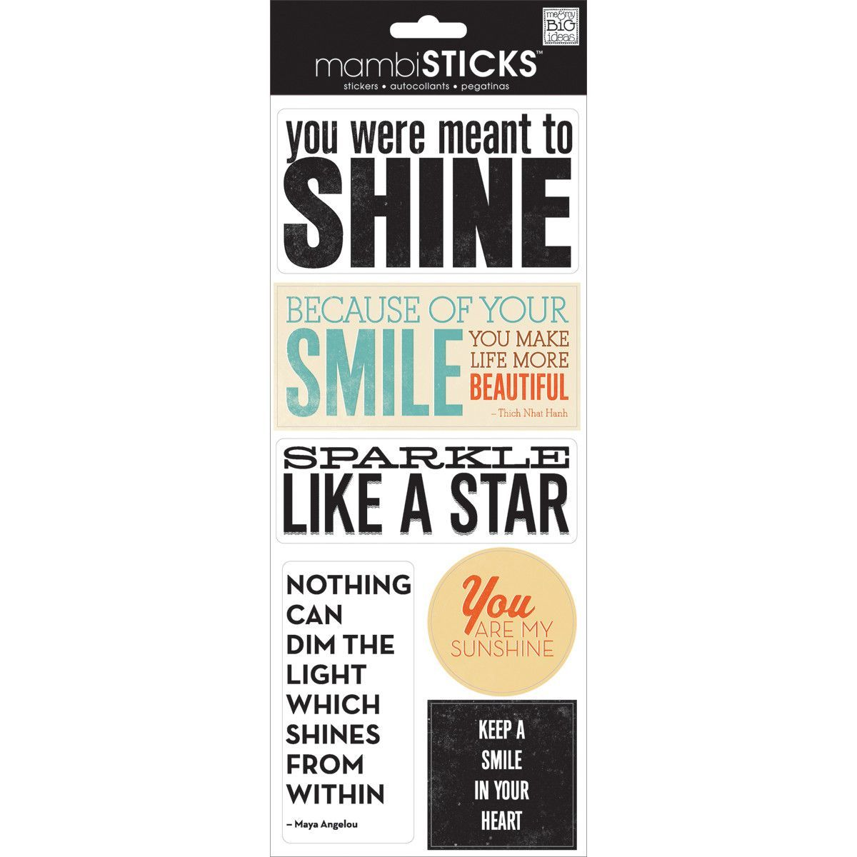 Sayings Stickers - You Were Ment To Shine