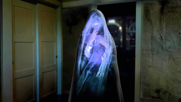atmosfx digital decoration transforms your home into a horrific holographic haunted house