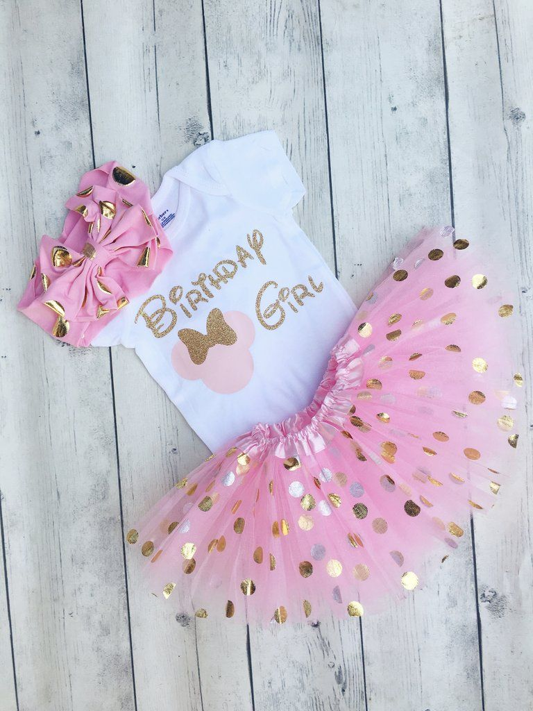 c2d901977 Pink and gold minnie mouse first birthday outfit - minnie first birthday  onesie