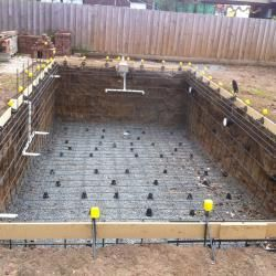 Build Swimming Pool with Steel Fixing.