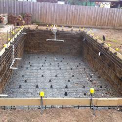 Build Swimming Pool with Steel Fixing. | Back yard | Swimming pool ...