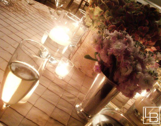 shabby chic wedding reception centerpieces and table setting