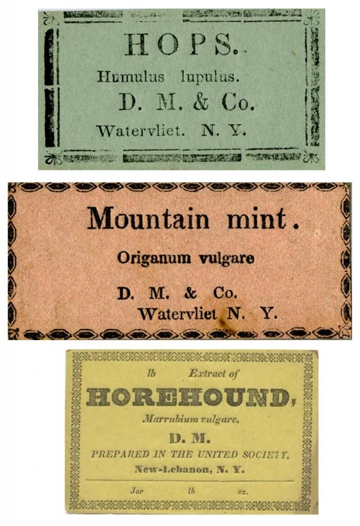 Vintage Herb Labels Print out on White Linen Textured
