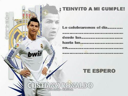 Real Madrid Invitaciones De Cumpleaños Tarjetas De