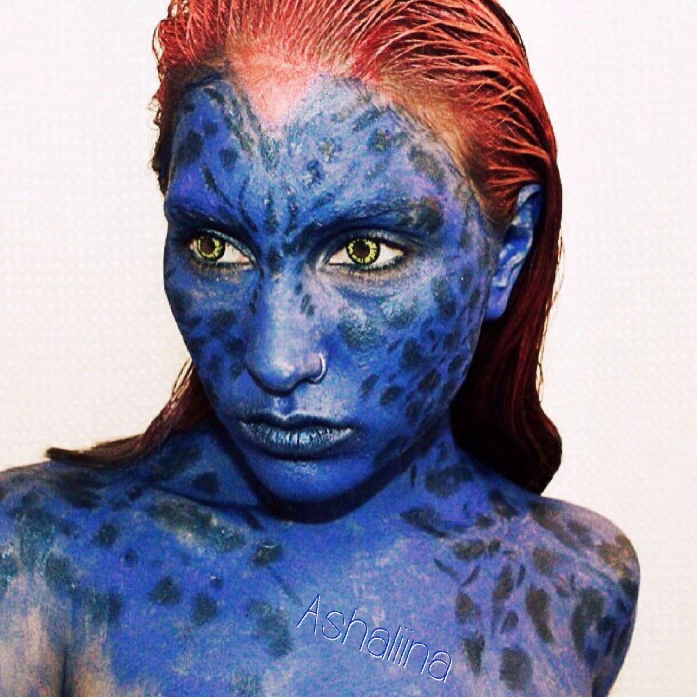 Day Twelve  X Men Mystique (With Filter) Makeup Tip To