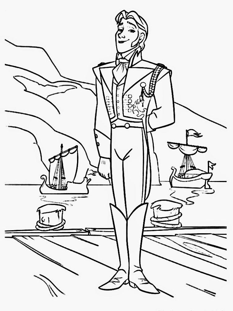 Prince Hans Frozen Coloring Pages