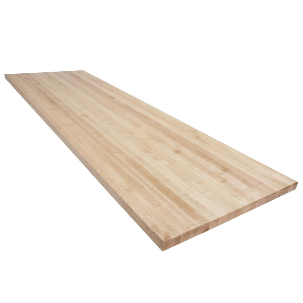 Swaner Hardwood 8 Ft L X 2 Ft 6 In D X 1 75 In T Butcher Block