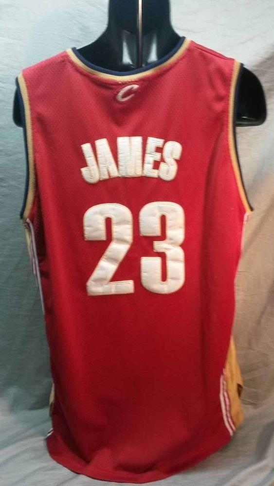 official photos 1c302 2de61 Authentic LeBron James Jersey Sz 50 - Original Cleveland ...