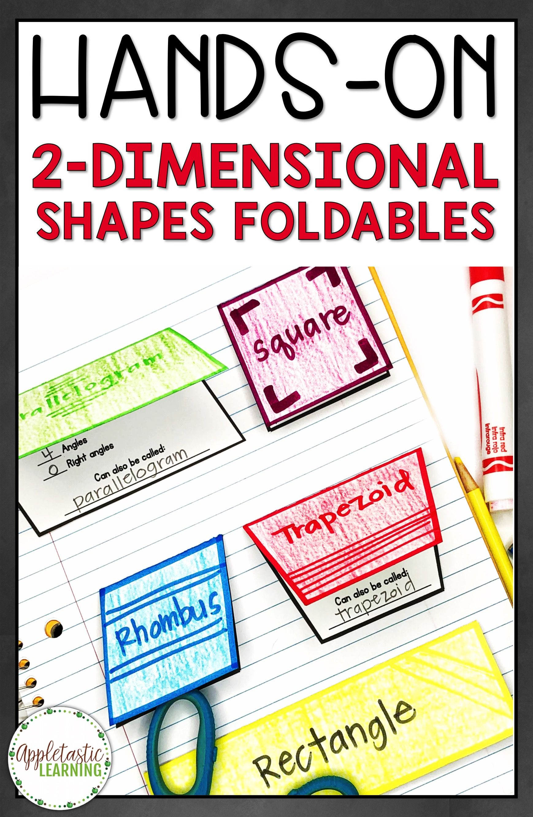 2D Shapes Foldables and 2 Dimensional Shapes Foldables are fun for  elementary students in 3rd grade [ 2666 x 1738 Pixel ]