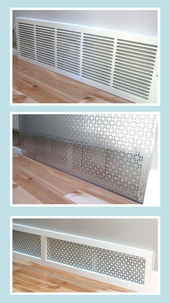 a better looking return air grille using a patterned metal sheet