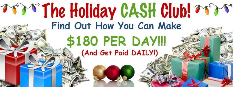 The Holiday Cash Club is Rockin'!!  Find Out How You Can Make $80 - $180 A Day For The Holidays!  Listen To This QUICK Message Then INBOX Me To Get Started!  Call: 559-726-1399 And Use The Access Code: 550732#  rachel@befabyoulous.com
