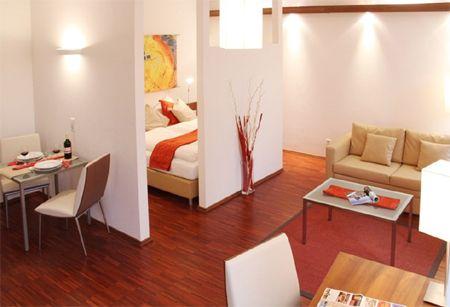 Home dzine decorating a bedsitter or shoebox apartment for Bedsitter interior design