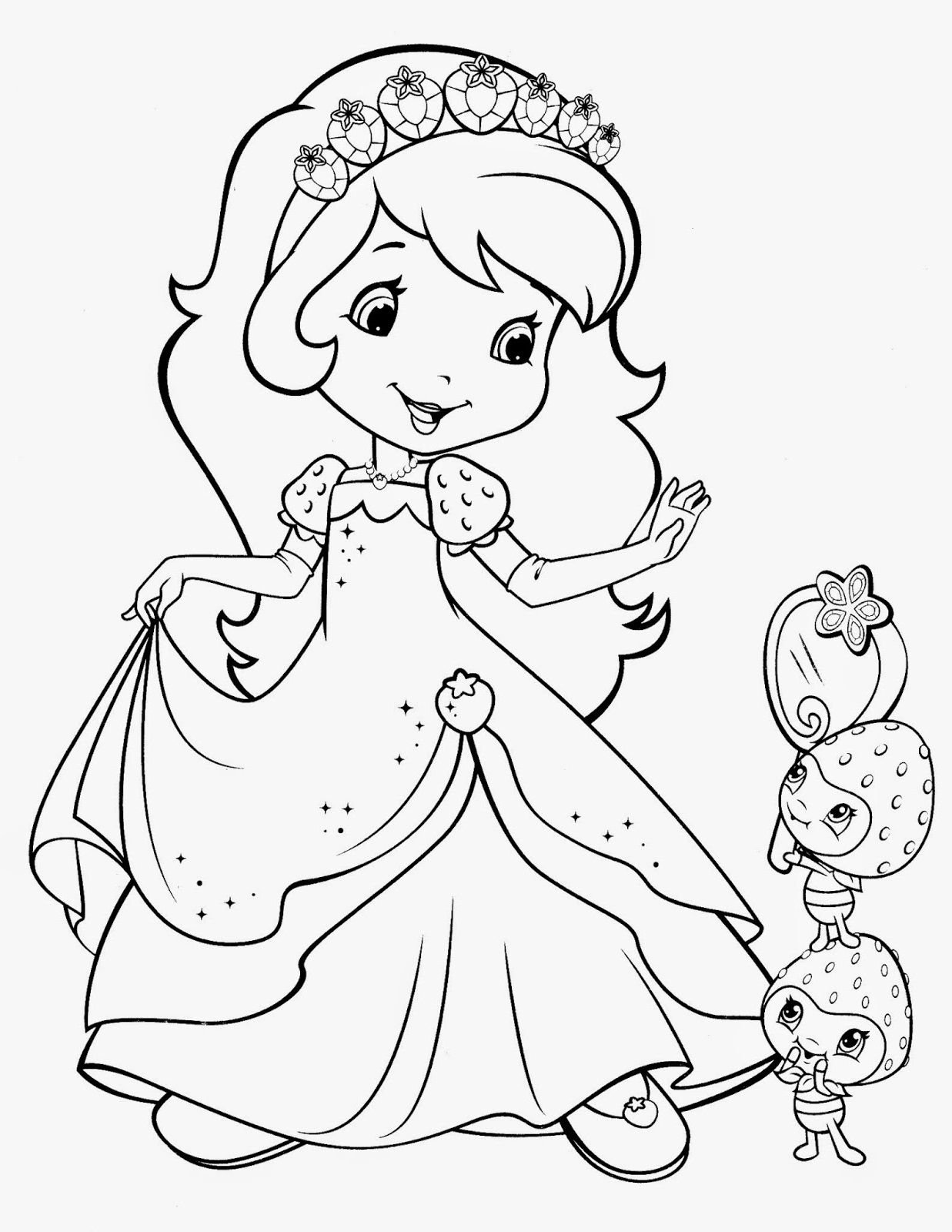 Strawberry Shortcake In Gown Coloring Pages 2019 Educative Printable Barbie Coloring Pages Strawberry Shortcake Coloring Pages Cartoon Coloring Pages