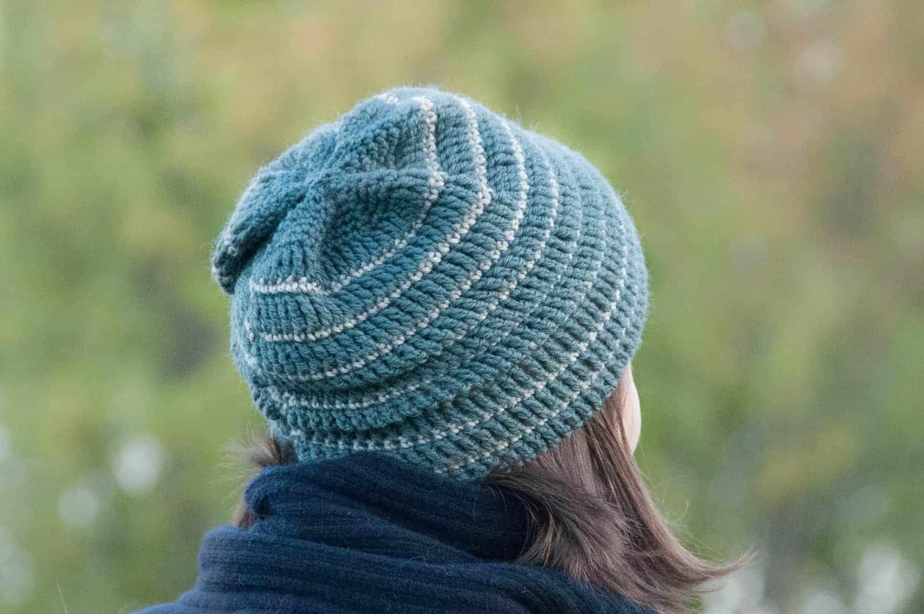 Free crochet pattern for a crochet hat. Textured FREE crochet pattern for a crochet