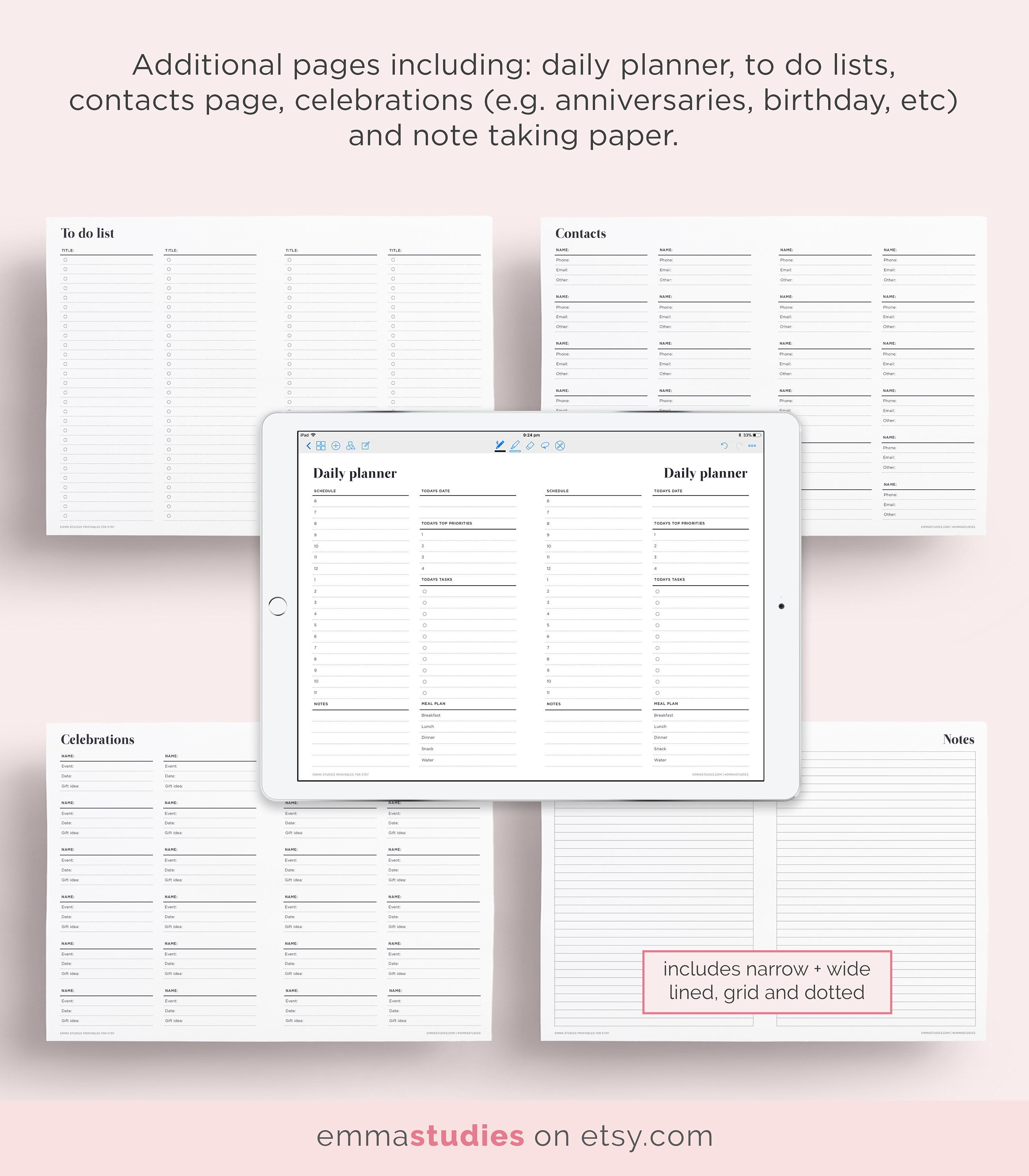 GoodNotes 2018 Digital Planner Monthly And Weekly