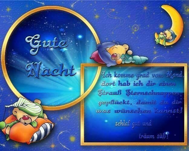 Schlafe gut und träume etwas Schönes! | Gute nacht, Nacht