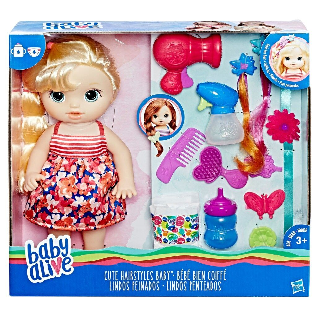 Baby Alive Blonde Cute Hairstyles Baby By Hasbro Baby Alive Baby Alive Dolls Baby Alive Magical Scoops
