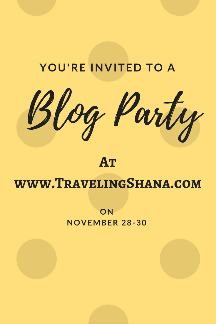 Join me for a blog party and connect with other bloggers