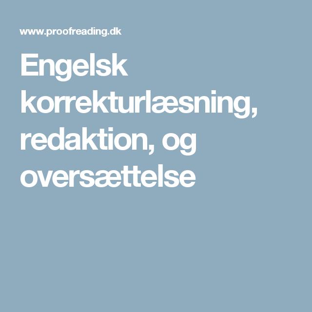 engelsk oversætning