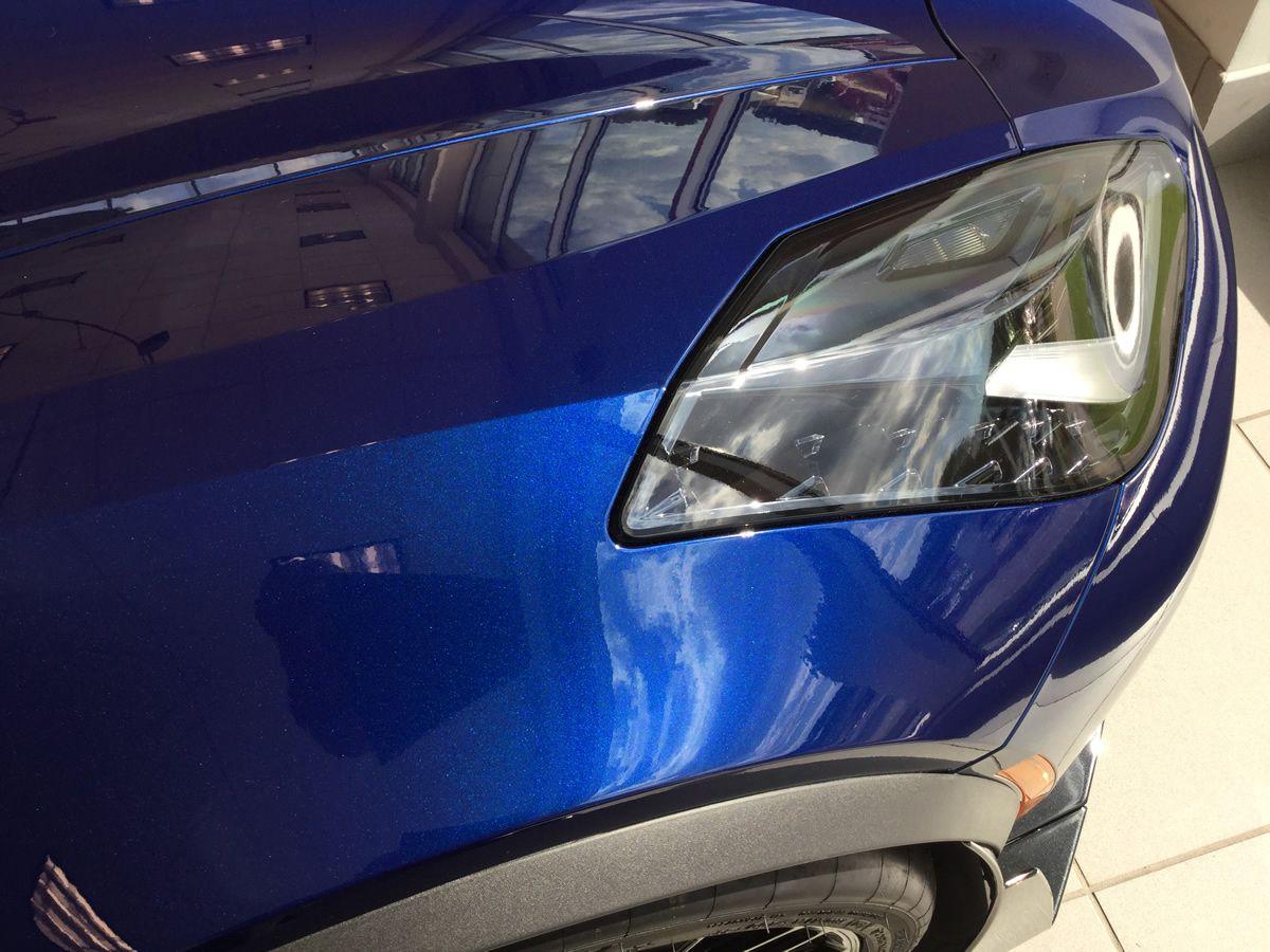 2016 Corvette Z06 With Admiral Blue Metallic Paint Dark Gray Leather Interior 3lz Trim Package Carbon Fiber Roof Panel An Corvette Corvette Z06 Grey Leather