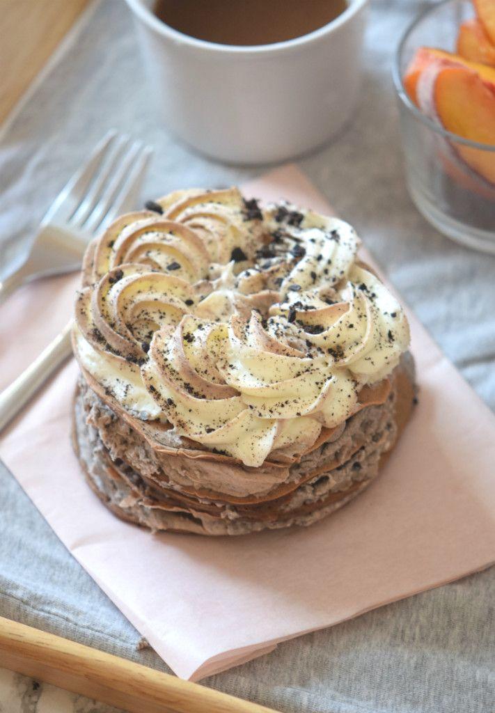 Oreo Pancakes with Oreo Frosting - Carmela POP